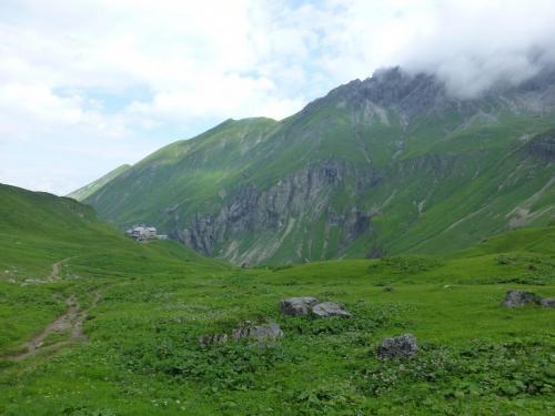 Rückblick zur Kemptner Hütte