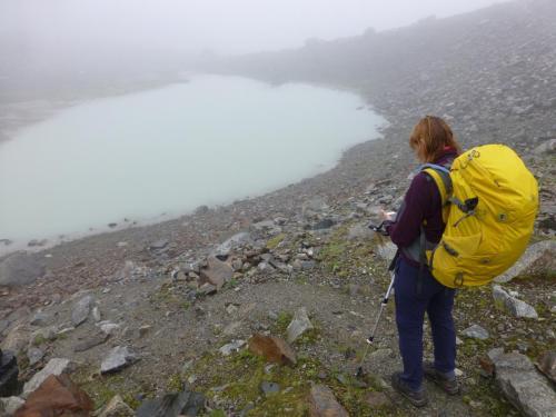Bergsee am Aufstieg