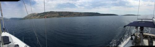180 Grad auf dem Meer