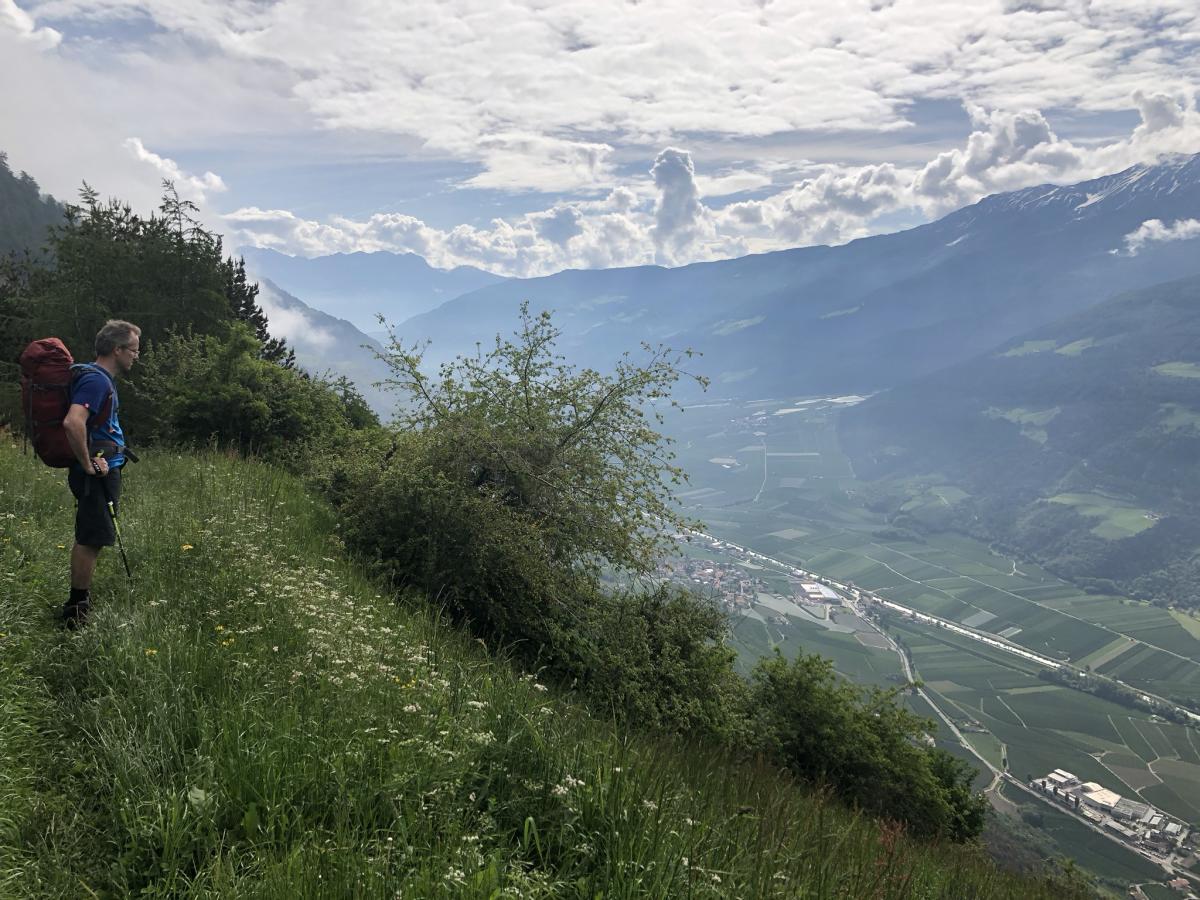 Befreiender Blick ins Tal
